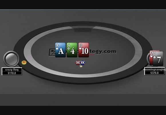 疯狂的常规玩家 - NL100单挑(HU)牌局评论视频系列下