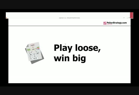 Play Loose, Win Big - Be Tough On The Cutoff