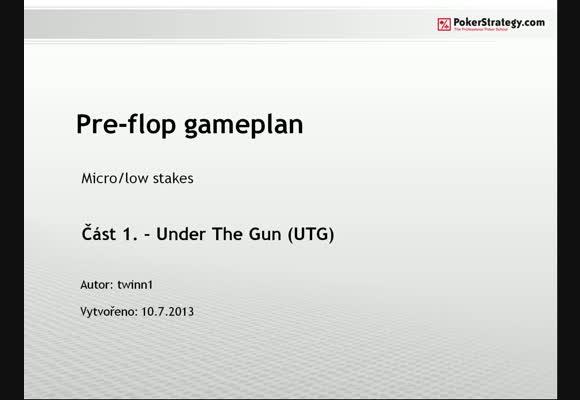 Herní plán - 1. část (UTG)