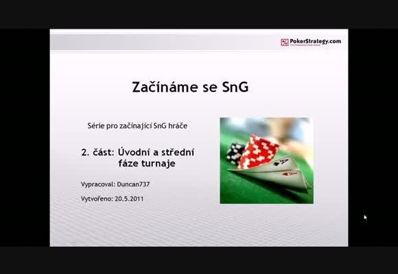 Začínáme se SNG - 2. část