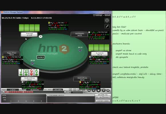 PLO video: Turn play v PLO - 2. část (bet flop, c/f turn)