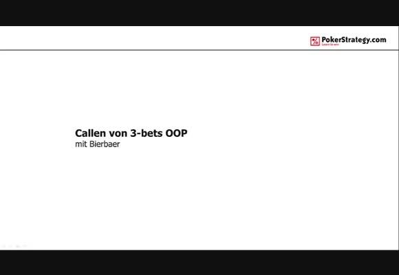 Callen von 3-bets OOP