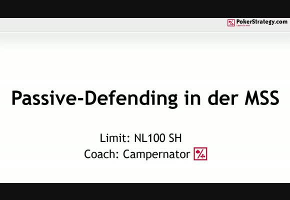 Passive-Defending in der MSS