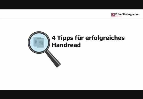 Vier Tipps für erfolgreiches Handreading