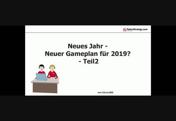 Gameplan für 2019 (2)