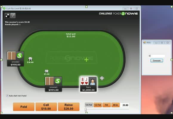 3 Handed vs PokerSnowie