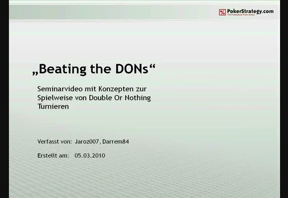 Beating the DONs - Teil 1