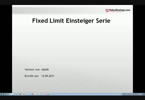 Alph0r - Fixed Limit Einsteigerpodcast - Teil 3