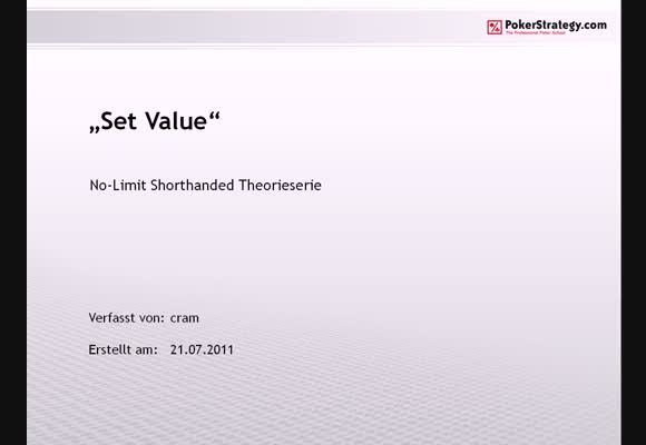 NL SH Theorie: Set Value