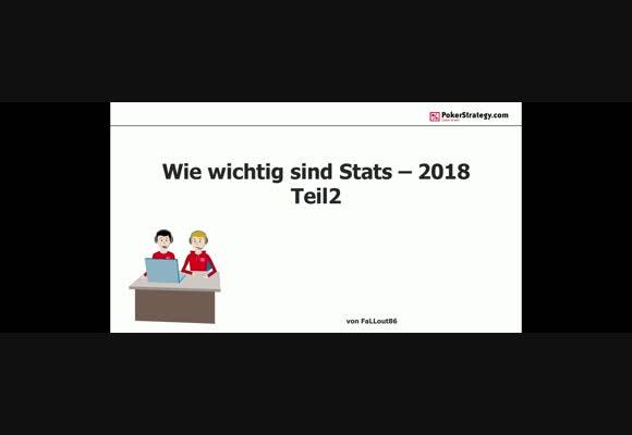 Wie wichtig sind statistische Werte 2018? (2)