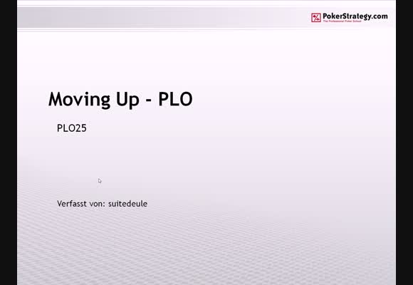 Moving Up in PLO - Teil 3