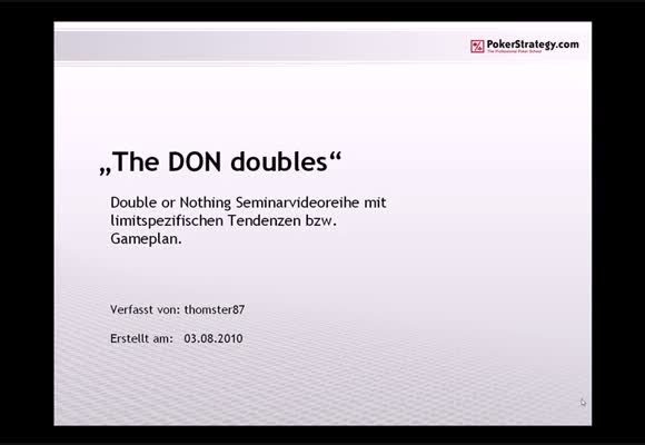 The DON doubles - Teil 1