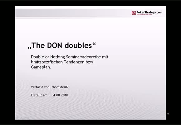 The DON doubles - Teil 2