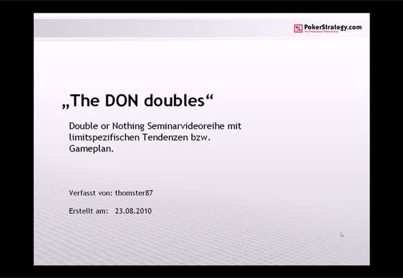 The DON doubles - Teil 3