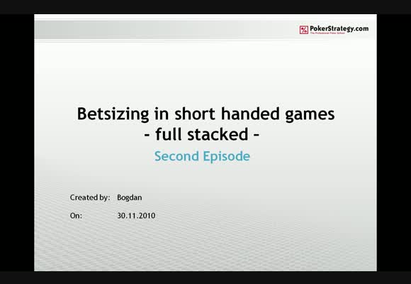 Betsizing in shorthanded games - Part 2