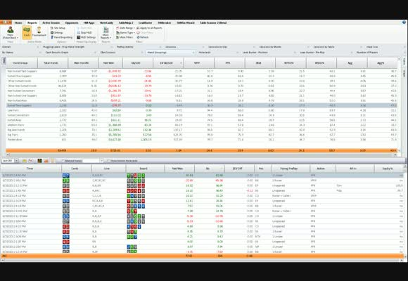 Holdem Manager 2 Report Filters - Hand Groupings