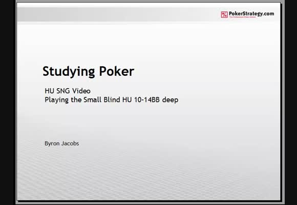 Studying Poker: Heads-up Small Blind Play - Part 2