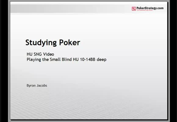 Studying Poker: Heads-up Small Blind Play - Part 3