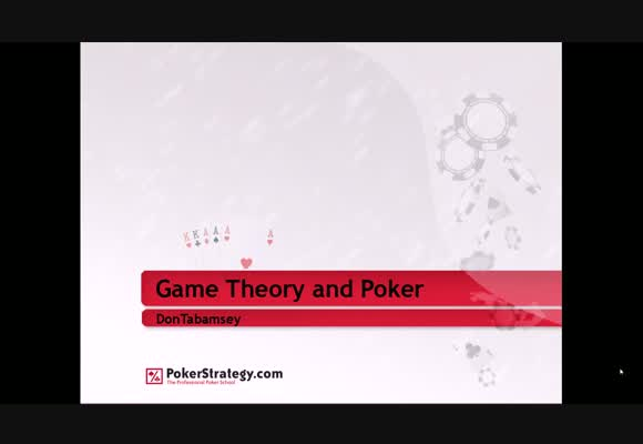 Game Theory and Poker - Part 1