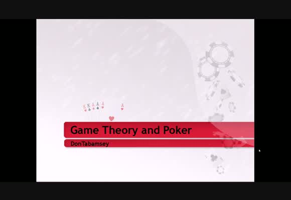 Game Theory and Poker - Part 3