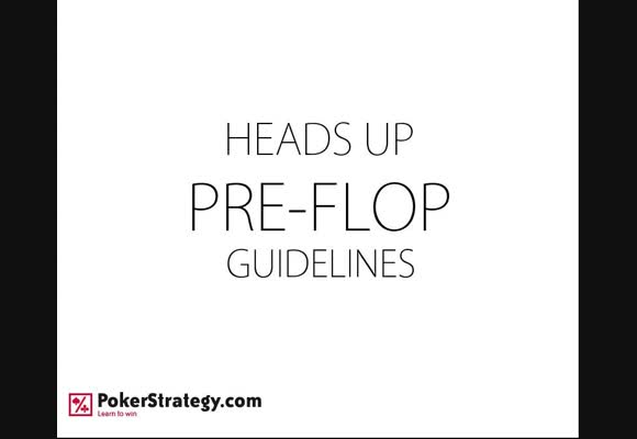 Pre-flop Heads-up Ranges
