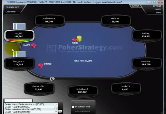 MTT $26 - 10k GTD Final Table