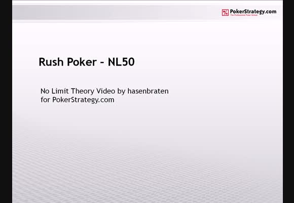 Rush Poker  - NL50 SH
