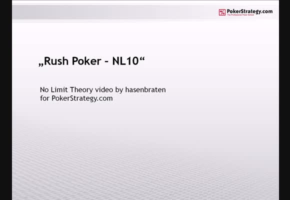 Rush Poker - NL10