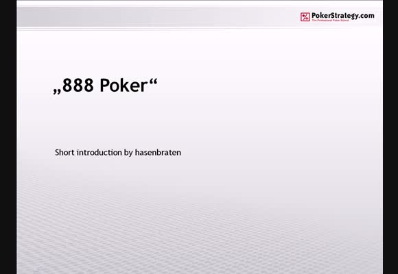 Introducing 888 Poker