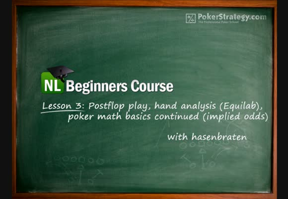 NL Beginners Course - Lesson 3: Post-flop and hand analysis