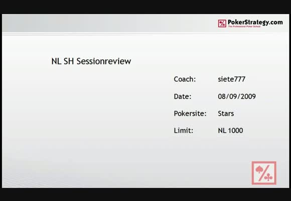 NL $1,000 SH Session Review