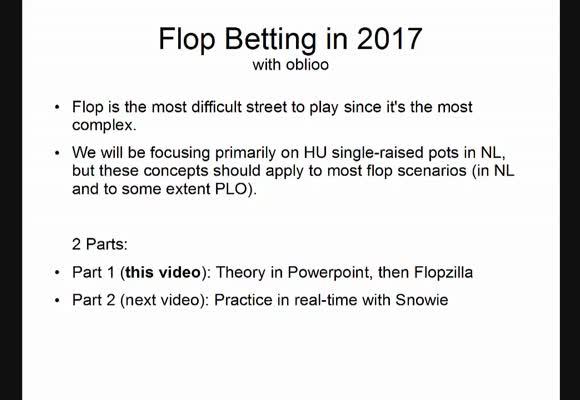 Advanced Flop Betting in 2017 (1)