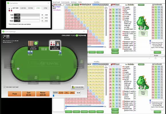 Advanced Flop Betting in 2017 - PokerSnowie Session (2)