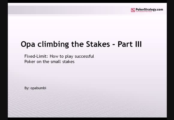 Climbing the stakes - Part 3
