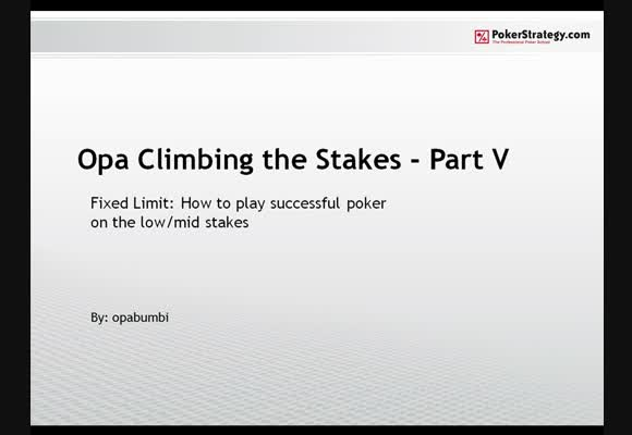 Climbing the stakes - Part 5