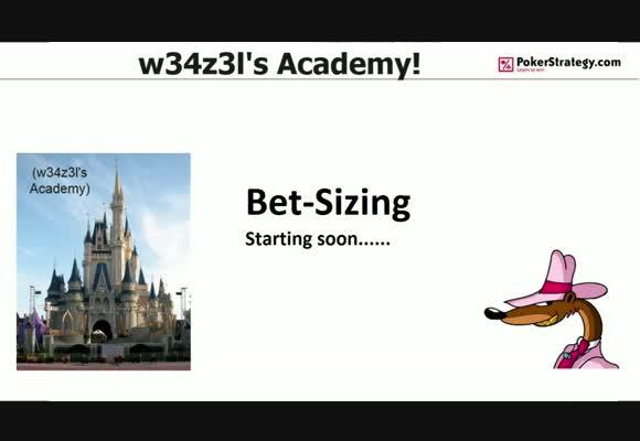 w34z3l's Academy - Bet Sizing