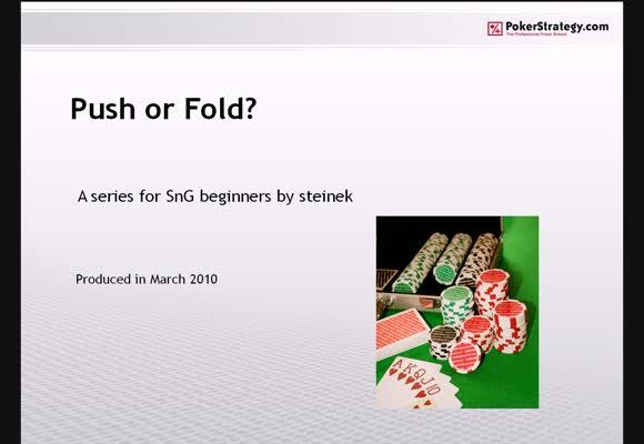 Push or Fold - Part 1