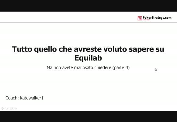 Tutto quello che avreste voluto sapere su Equilab - parte 4