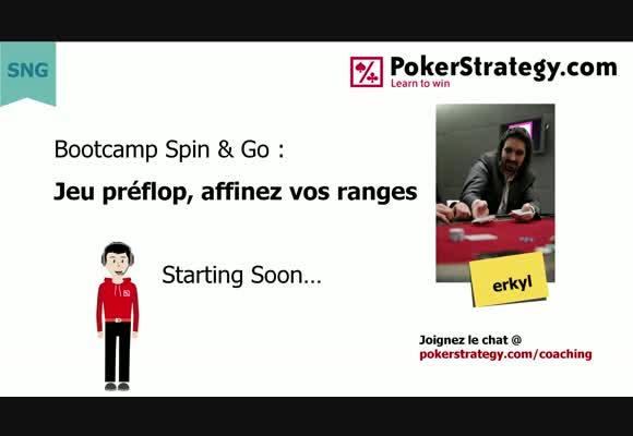 Bootcamp Spin&Go  : Stratégie pre flop