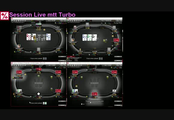 le jeu en MTT turbo