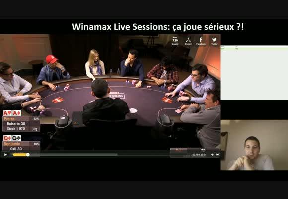 Revue de mains des Winamax Live Session