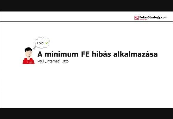 A minimum FE hibás alkalmazása