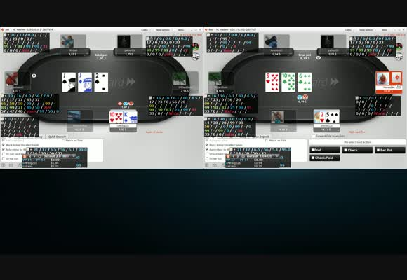 Micro madness - élő játék NL10 6max fastforward 11.03.