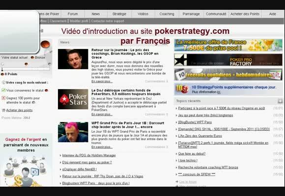 PokerStrategy.com : premiers pas