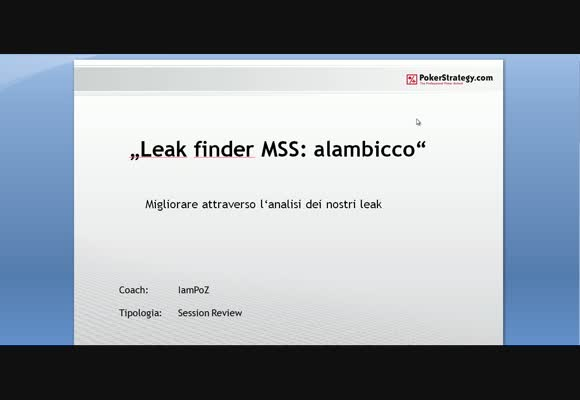 MSS - Leak Finder con alambicco