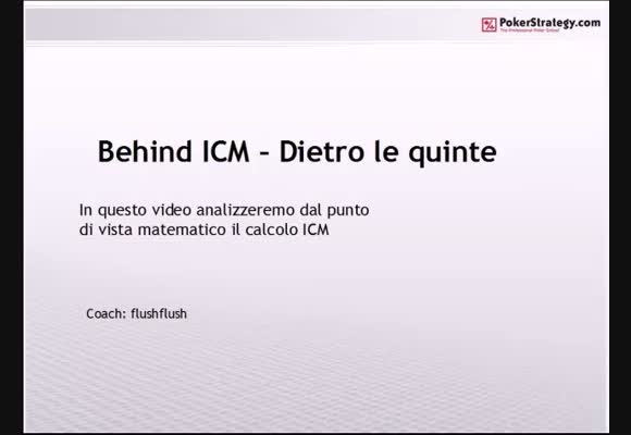 Behind ICM - Dietro le quinte