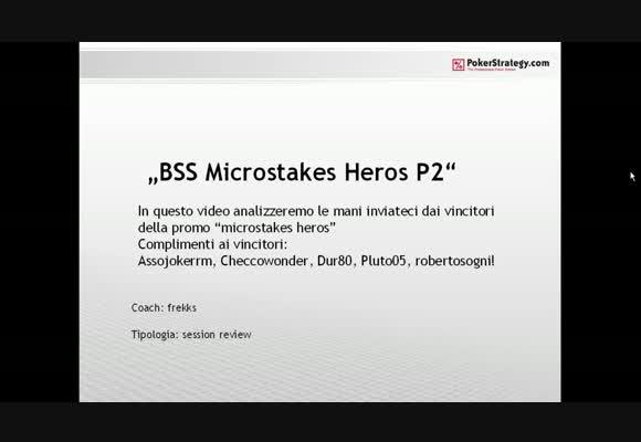Italian Microstakes Heroes 2 - Video finale - parte 2