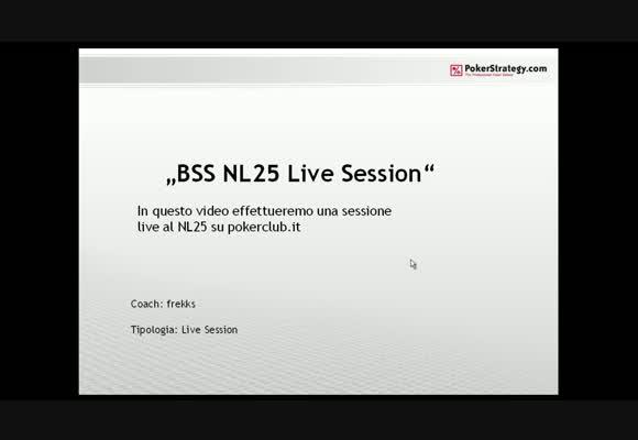 NL25 - Live session su PokerClub