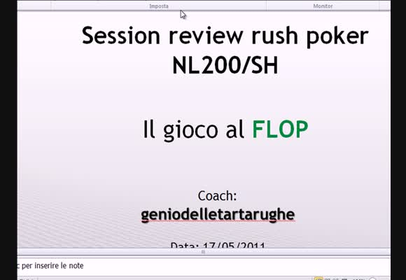 Session review NL200 - Il gioco al flop