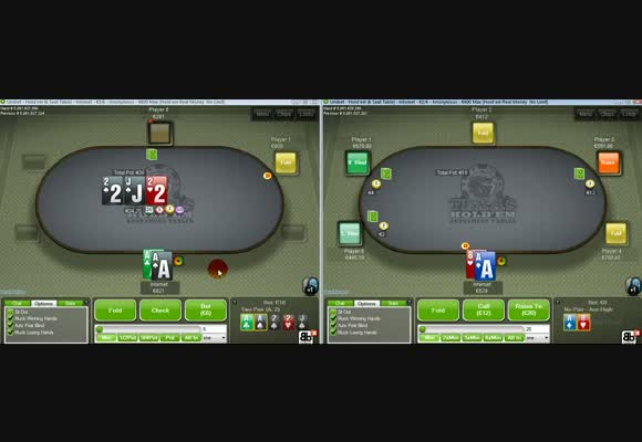 Internet Live on Unibet's 600NL Anonymous Tables